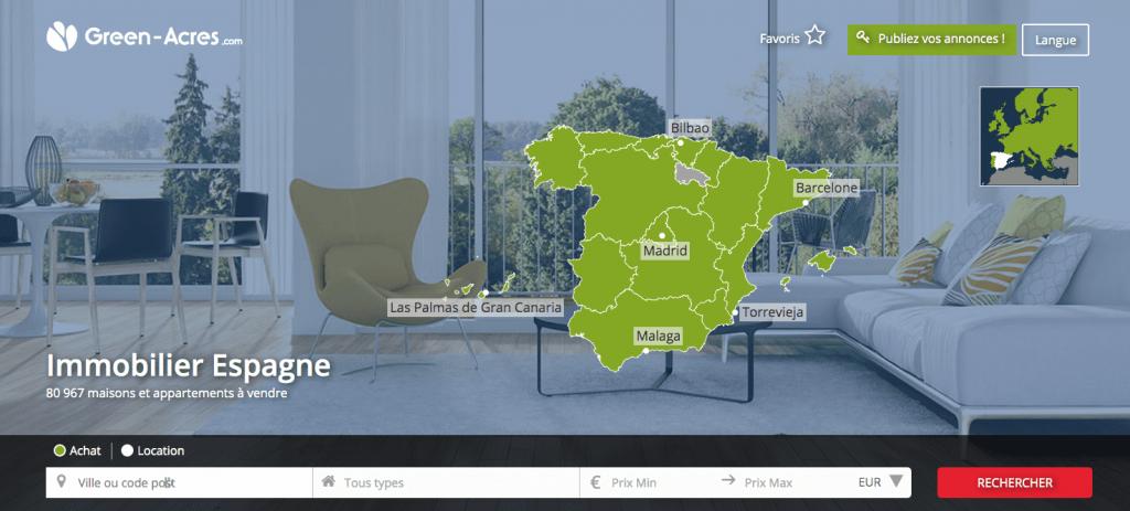 Le portail immobilier en Espagne Green-Acres.es