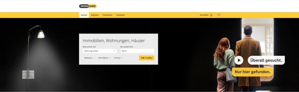 Immowelt.de, portail immobilier en Allemagne