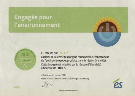 Netty électricité verte