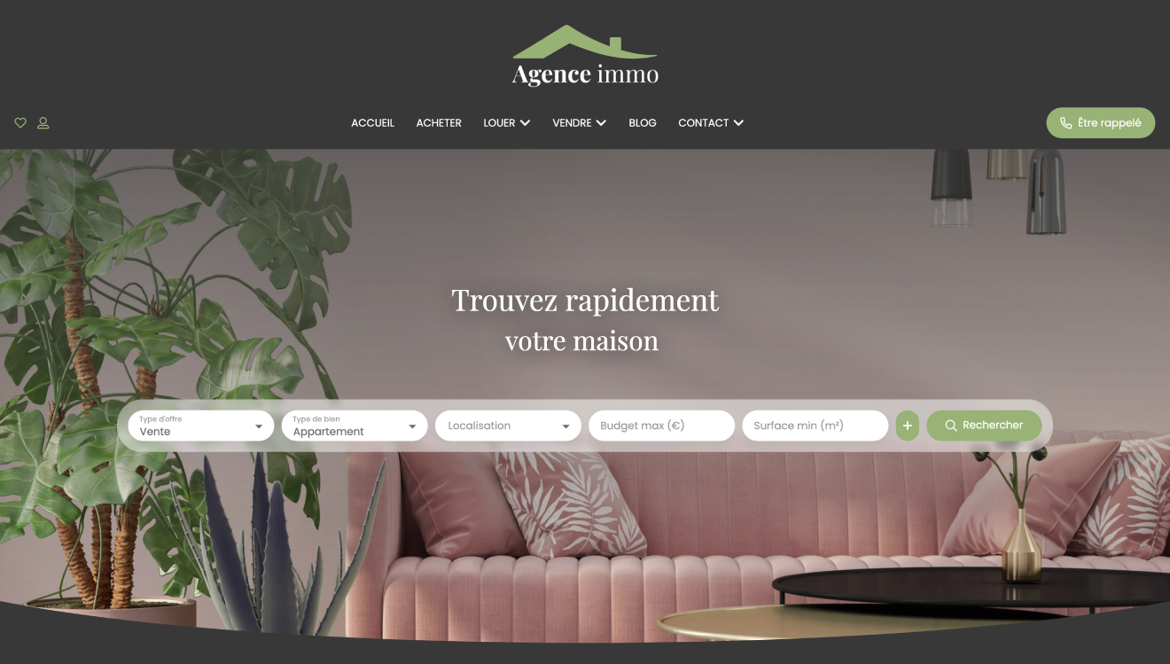 Illustration site immobilier Cosy